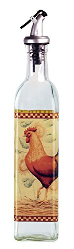 Grant Howard Rooster Glass Oil and Vinegar Cruet, 16 oz, Multicolor by Grant Howard