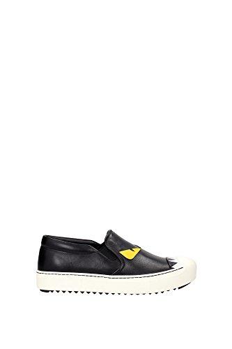 Sneakers Slip On In Pelle Fendi Da Donna Nere