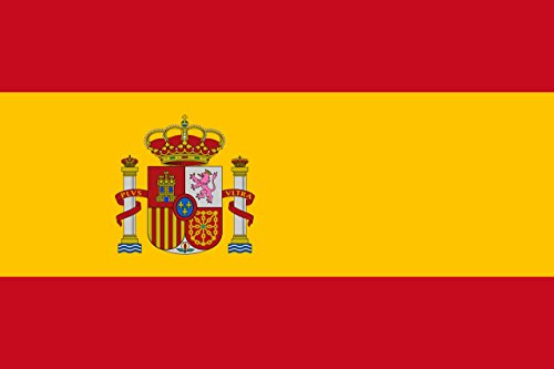 SoCal Flags® Brand Spain Flag 3x5 Foot Polyester - Spanish Banner - High Quality Weather Resistant Durable - 100d Material Not See Thru Like Other Brands … (Spain Flag National)