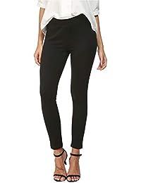 Mid Waist Yoga Dress Pants Stretch Slim Leg Tummy Control Work Pull-On Dress Leggings