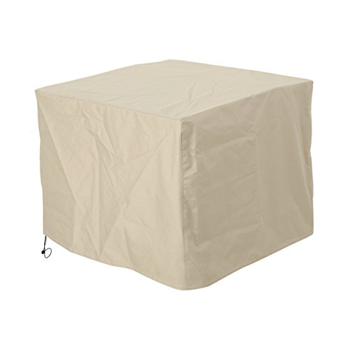 Great Deal Furniture Paz Outdoor 34'' by 34'' Waterproof Square Fire Pit Cover, Beige by Great Deal Furniture