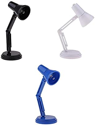 1//6 Scale LED Desk Lamp Light Furniture for Dollhouse Accessory Blue