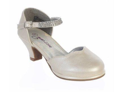 Gwen & Zoe GZ5502 High Heel Shoe w/Rhinestone Strap (11, Ivory) -