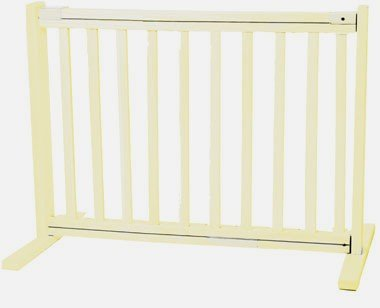 Dynamic Accents Amish Handcrafted Kensington Freestanding Pet Gate Size: Small, Finish: Warm White
