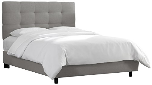 Skyline Furniture Tufted Bed, King, Linen (Skyline Upholstered Bed)
