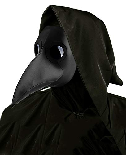 Real Simple Halloween Costumes For Adults (Lubber Plague Doctor Mask Gothic Cosplay Retro Steampunk Props for Halloween Costume (Simple)
