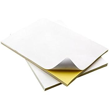 cotyledon White A4 Self Adhesive Sticker Paper For Inkjet Printers / Laser Printer 30/50/100pcs per pack(Matt,30pcs)