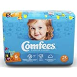 ATTENDS Baby Diaper Comfees Tab Closure Size 6 Disposable (#CMF-6, Sold Per Case)