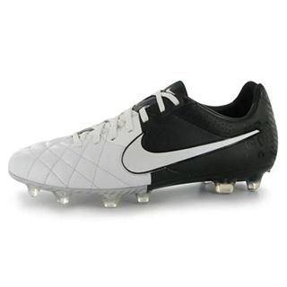 detailed look 47860 4c008 NIKE Tiempo Legend IV FG Football Boots White Black - size 9.5