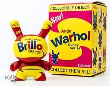 "Brillo Yellow Andy Warhol Mini Figure 3/"" Vinyl Dunny Series 1 Kidrobot Brand New"
