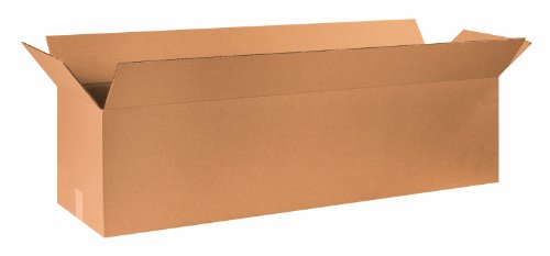 Aviditi 481212 Long Corrugated Box, 48' Length x 12' Width x 12' Height, Kraft (Bundle of 10)