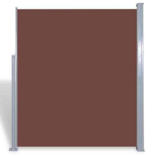 vidaXL Patio Retractable Side Awning Sun Shade Wind Protection 71''x118'' Brown by vidaXL (Image #5)