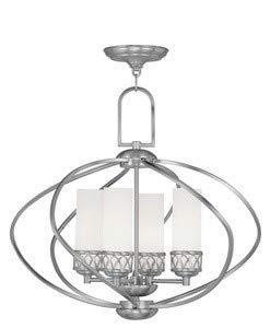 Livex Lighting 4724-91 Westfield 4-Light Chandelier, Brushed Nickel