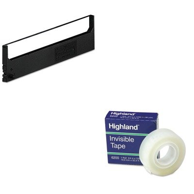 KITDPSR1800MMM6200341296 - Value Kit - Dataproducts R1800 Compatible Ribbon (DPSR1800) and Highland Invisible Permanent Mending Tape (MMM6200341296) - Dataproducts R1800 Compatible Ribbon