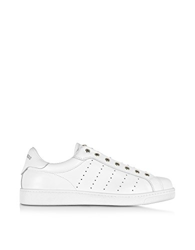 DSQUARED2 MEN'S W16SN4135381062 WHITE LEATHER SNEAKERS