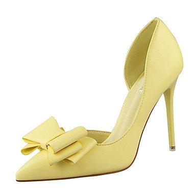 Zormey Women'S Heels Spring Summer Fall Winter Club Shoes Comfort Pu Office &Amp; Career Party &Amp; Evening Dress Stiletto Heel Bowknot Hollow-Out US6.5-7 / EU37 / UK4.5-5 / CN37