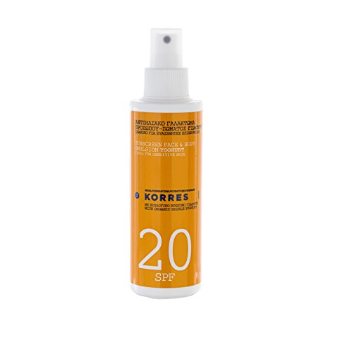 Top Protection Layer Spf 20 (Korres Yoghurt SPF 20 Face and Body Sunscreen Emulsion Spray 150ml)