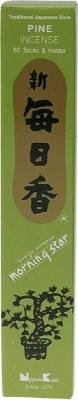 Morning Star Pine Scent Japanese Incense Sticks, Box of 50 Sticks
