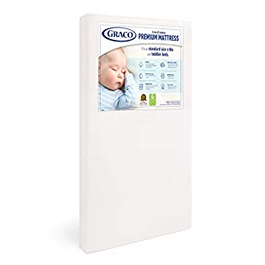 Graco Premium Foam Crib and Toddler Mattress in a Box – GREENGUARD Gold Certified, Non-Toxic, Breathable, Removable…