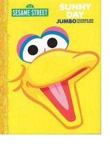 Amazon Com Sesame Street Sunny Day Jumbo Coloring Book Toys Games