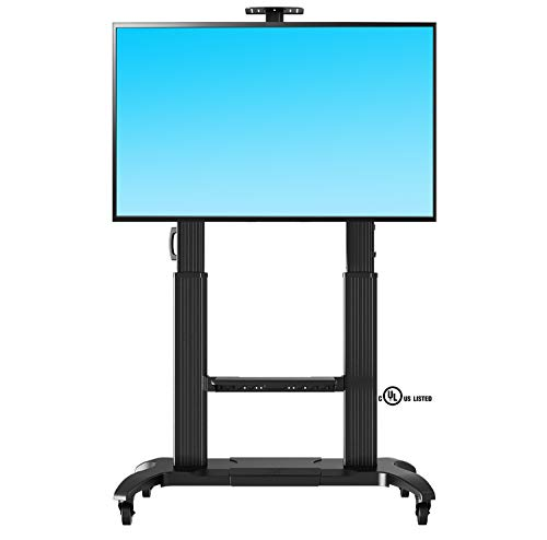 North Bayou Mobile TV Cart Heavy Duty TV Stand with Wheels for 60 to 100 inch LCD LED OLED Flat Panel Plasma TV up to 200lbs CF100