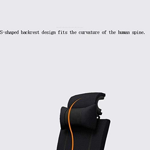 DBL Stolar kontorsstol hem datorstol, vilande chef stol ergonomisk ryggstol, bekväm spelstol affärer svängbar stol skrivbordsstolar (storlek: Latexkudde svart)