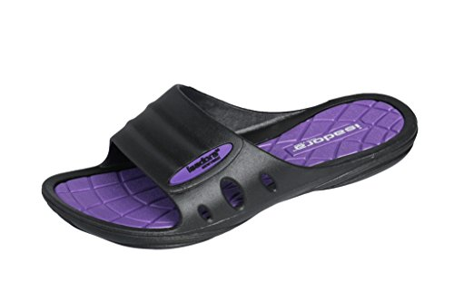 Isadora Womans New Slide Beach Sandal Slippers in Bright Fun Colors (Checkered Purple) 9
