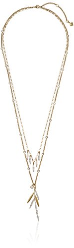 - Nicole Miller Artelier Pave Pod Fringe Double Layer Long Strand Necklace, 28