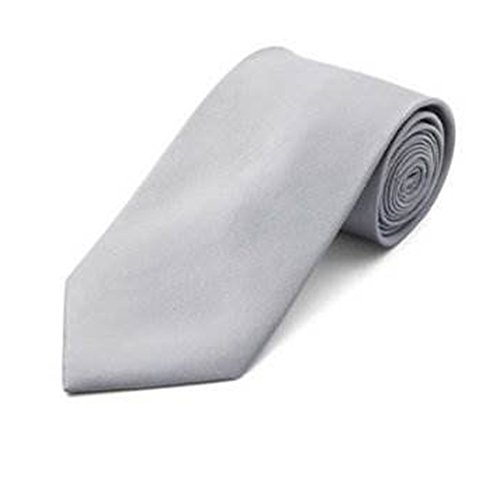 Accessorystation® Cracates noir Couleur Tendance Solide Argent Gris Cou Cravates Hommes HA7naxnE