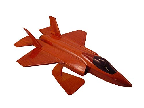 F-35 Joint Strike Fighter Mahogany Wood Airplane desktop Model