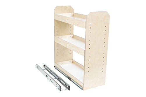 "Slide-A-Shelf AMC-PL-3TT-6W18D20H-F Baltic Birch Adjustable 3 Tier Tower with Full Extension, 6"" x 18"" x 20"""