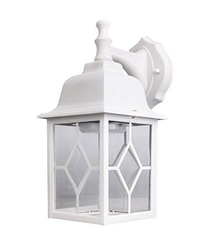 Lit-Path Outdoor LED Wall Lantern, Wall Sconce as Porch Light, 11W (100W Equivalent), 1000 Lumen, Aluminum Housing Plus Glass, Matte White Finish, Outdoor Rated, ETL and ES Qualified by LIT-PaTH (Image #4)