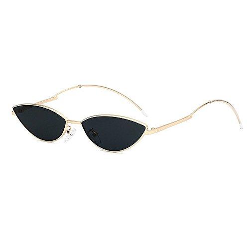 Ojos Sol Sol la Sol señora UV de Retro de protección de Personalidad de Mujeres pequeño y Peggy de de para Gafas PC Gafas la Lente Color Amarillo Negro Gu Hombres Unisex conducción Gato Gafas qAIWw0z