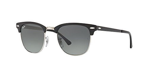 Ray-Ban Metal Unisex Square Sunglasses, Silver Top Black, 50 - Ray Ban Sunglasses New Clubmaster