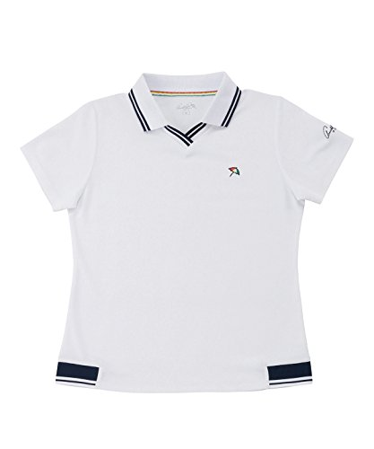 アーノルドパーマー レディース ゴルフ ポロシャツ 半袖 ロゴ半袖シャツ AP220301H02 WH M