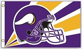 Minnesota Vikings 3'X5' Helmet Design Flag -