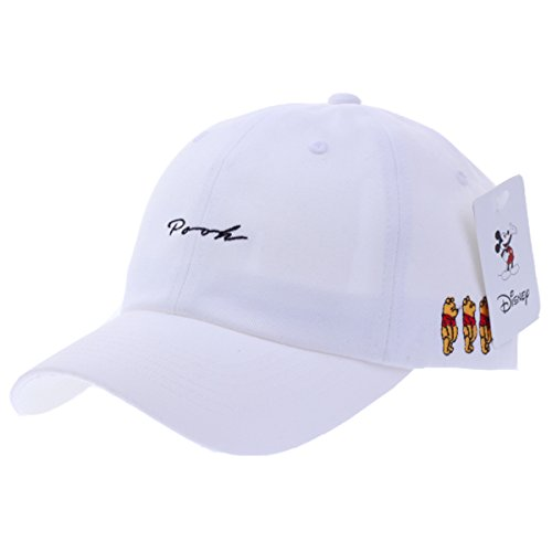 Pooh Hat (Disney Authentic Baseball Trucker Golf Sports Hats Pooh Word BALL CAPs Ch White)