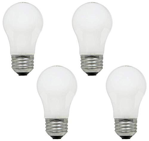 60w Light Fan - 60 Watt, 570 Lumens A15 Frosted Ceiling Fan Bulbs -Multi-use Fans, appliances, Wall Lighting (4 Pack Frosted)