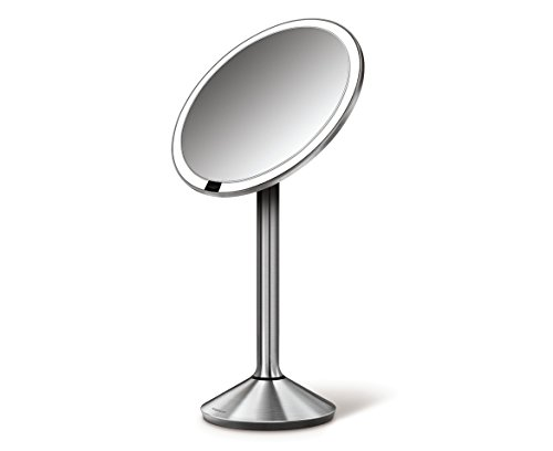 simplehuman-65-inch-sensor-mirror-sensor-activated-lighted-vanity-mirror-7x-magnification