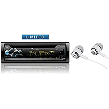 pioneer deh-s5100bt in-dash built-in bluetooth cd, mp3, front usb,  auxiliary, pandora, am/fm, built in ipod, iphone and ipad controls, dual  phone connection