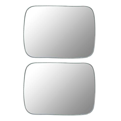runmade 2Pcs 360 Degree Car Mirror Wide Angle Square Convex Blind Spot Mirror Parking Rear View Mirror For Car SUV Van Truck (white)