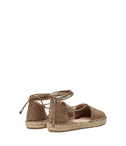 Espadrilles Sandales Lace Poilei Alma Pour Femmes Chaussures Cuir Plat Taupe Souple Up x8wC8Xrtq