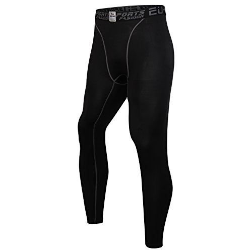 Palazze Compression Pants - Men's Tights Running Leggings Workout Base Layer - Black - XXXL size - Asian Size - Choose 1 Size Up