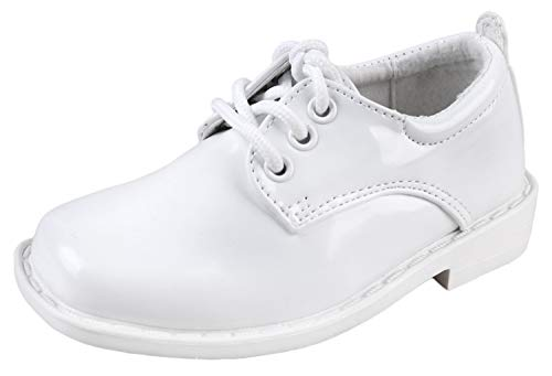 TipTop Patent Dress Oxford Shoes White 8 M US Toddler ()