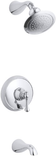 KOHLER K-T16115-4A-CP Revival Rite-Temp Pressure-Balancing Bath and Shower Trim, Polished Chrome