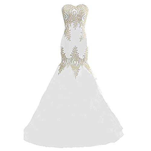 (Women wedding dresses for brides Women Wedding Bridesmaid Dress Strapless Sweetheart Embroidery Floral Lace Bridal Gown Lace-up Mermaid Evening Party Dress Formal Long Prom Dresses women bridesmaid dr)