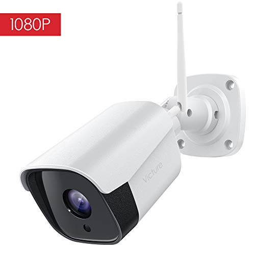 Victure Outdoor Security Camera, 1080p Weatherproof WiFi Bullet Camera, Wireless CCTV Camera with Night Vision Two Way Audio Motion Detection, Home Surveillance Camera Compatible with ()