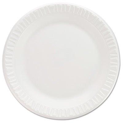 Concorde Non Laminated Foam Dinnerware - Dart 7PWCR Non-Laminated Foam Dinnerware, Plates, 7