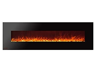 Ignis Royal 72 inch Wall Mount Electric Fireplace with Pebbles c SA us Certified (Could be recessed with no Heat)
