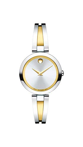- Movado Women's Aleena Two-Tone Watch with a Concave Dot Museum Dial, Gold/Silver (Model 607150)